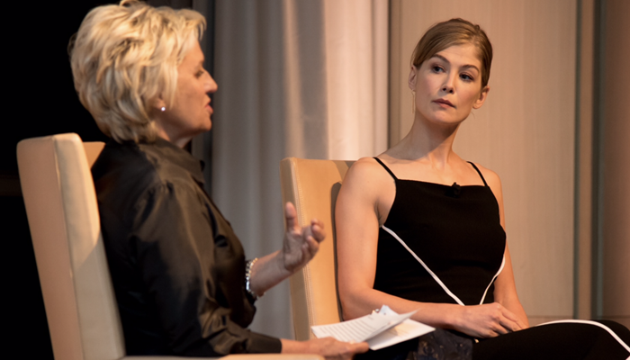 INTERVIEW: Rosamund Pike talked about portray Marie Colvin at the Women in the World.