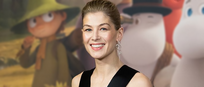 INTERVIEW: Rosamund Pike talks more about 'Moominvalley' and her character 'Moominmamma'.